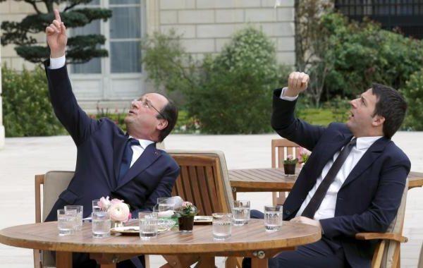 Hollande si dà al renzismo, ma l'economia arranca