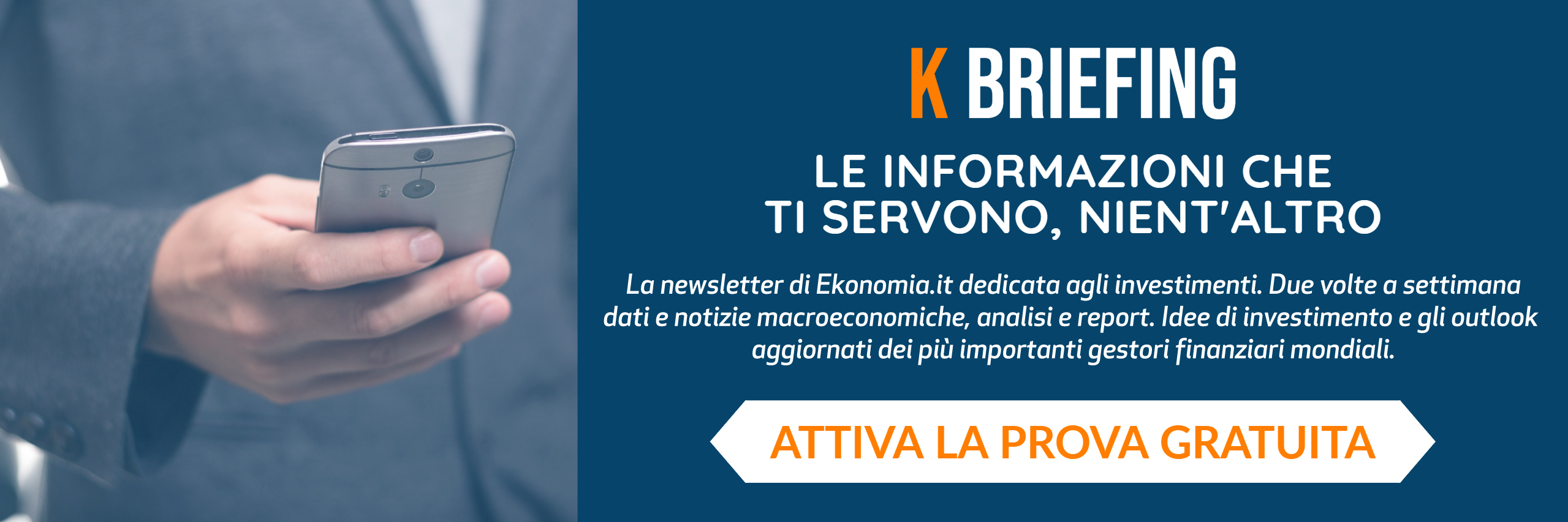 prova gratuitamente la newsletter k briefing